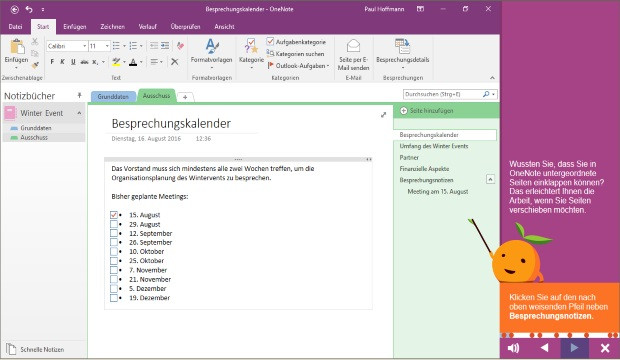 Preview image for training Microsoft OneNote 2016